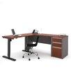 Bestar Connexion L-Shape Desk Office Suite