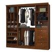 "Bestar Versatile 85.5"" Wide Closet System"
