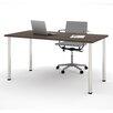 Bestar Writing Desk with Round Metal Leg