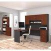 Bestar Manhattan 3 Piece L-Shape Desk Office Suite