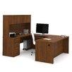 Bestar Embassy Computer Desk with Hutch