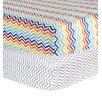 Trend Lab Rainbow and Chevron Print Flannel 2 Piece Crib Sheet Set