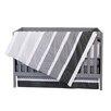 Trend Lab Ombre Grey 4 Piece Crib Bedding Set