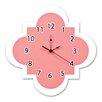 """Trend Lab Cocoa Coral 11"""" Quatrefoil Wall Clock"""
