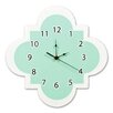 "Trend Lab Cocoa Mint 11"" Quatrefoil Wall Clock"