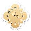 """Trend Lab Gold 11"""" Quatrefoil Wall Clock"""