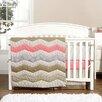 Trend Lab Cocoa Coral 3 Piece Crib Bedding Set