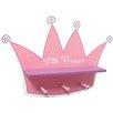 Trend Lab Pink Star Princess Tiara Shelf with 3 Peg Hooks