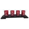 Creative Motion 4 Piece Glass Votive Set