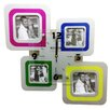 Creative Motion 4 Square Frames Wall Clock