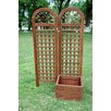 Cedar Planter Box with Trellis - Merry Products Planters