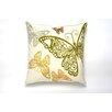Darzzi Butterfly Rabble Cotton Throw Pillow