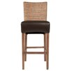 "Orient Express Furniture New Wicker Hampton 30"" Bar Stool with Cushion (Set of 2)"