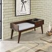 Simpli Home Draper Upholstered Storage Entryway Bench