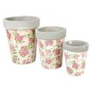 Fallen Fruits 3-Piece Round Pot Planter Set