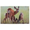 Fallen Fruits Deer Printed Doormat