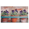 Fallen Fruits Flower Pots Printed Doormat