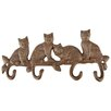 Fallen Fruits Cat Wall Mounted Coat Rack
