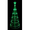 LB International Decorative LED Light Show Cone Christmas Tree Lighted Yard Art