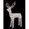LB International Animated Crystal 3 D Standing Buck Reindeer Lighted Christmas Decoration with Lights