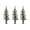 LB International Pre-Lit Cashmere Mix Potted Artificial Christmas Tree