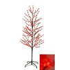 LB International Enchanted Garden 6' Cherry Blossom Flower Christmas Tree with 280 LED red Lights