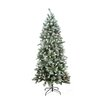 LB International 7' Snow Pine Artificial Christmas Tree with Clear Light