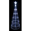 LB International LED Light Show Cone Christmas Tree Lighted Yard Art Decoration
