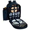 Picnic At Ascot Chevron 4 Person Picnic Backpack