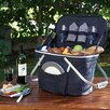 Picnic At Ascot Collapsible Insulated Picnic Basket with Two Place Settings