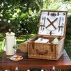 Picnic At Ascot Cheshire Basket for Two with Blanket in Gazebo