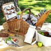 Picnic At Ascot Huntsman Basket for Four with Coffee Set and Blanket in Santa Cruz
