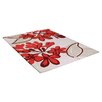 Ultimate Rug Co Floral Art Realm Hand-Woven Beige/Red Area Rug