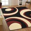 Ultimate Rug Co Teppich Rapello Torino in Schwarz und Rot