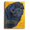 Artehouse LLC Black Pug by Ursula Dodge Graphic Art Plaque