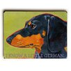 Artehouse LLC Dachshund by Ursula Dodge Graphic Art Plaque