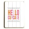 Artehouse LLC Hello Cupcake by Amanada Catherine Textual Art Plaque