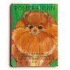 Artehouse LLC Pomeranian by Ursula Dodge Graphic Art Plaque