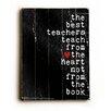 Artehouse LLC The Best Teachers by Cheryl Overton Textual Art Plaque