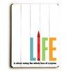 Artehouse LLC Life by Cheryl Overton Textual Art Plaque