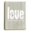 Artehouse LLC Love Truly, Madly, Deeply by Cheryl Overton Textual Art Plaque