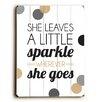 Artehouse LLC She Leaves a Little Sparkle Wood Sign