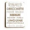 Artehouse LLC Spaghetti by Amanada Catherine Textual Art Plaque