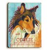 Artehouse LLC Collie Wood Sign