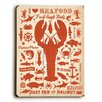 Artehouse LLC I Love Seafood Wall Décor