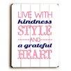 Artehouse LLC Live With Kindness Wall Décor