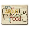 Artehouse LLC Family Good Food and Fun Wall Décor