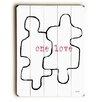 Artehouse LLC One Love Puzzle Pieces Wall Décor