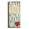 Artehouse LLC Give Thanks Wooden Wall Decor
