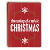 Artehouse LLC Dreaming of a White Christmas Wall Décor